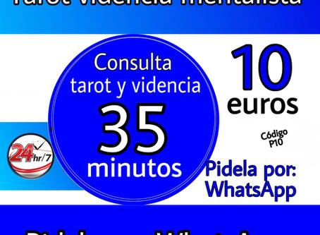 Consulta de tarot y videncia promoción 35 minutos solo 10 euros