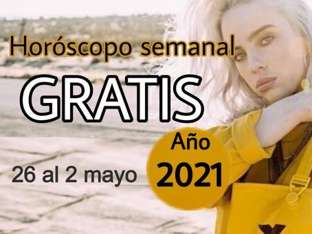NÚMERO, FRASE de la semana y HORÓSCOPO del 26 al 2 de mayo 2021