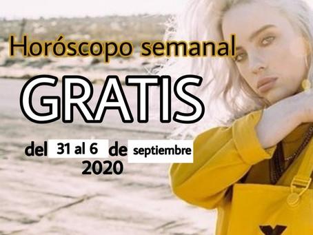 NUMERO, FRASE de la semana y HOROSCOPO del 31 al 6 de septiembre 2020