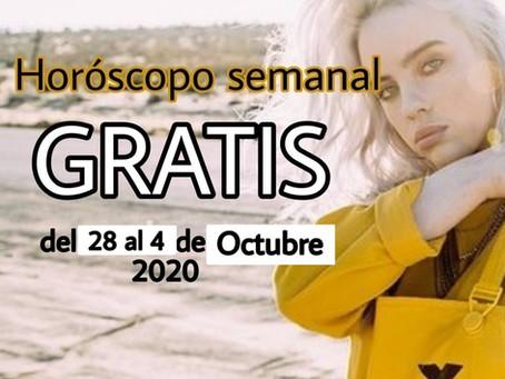 NUMERO, FRASE de la semana y HOROSCOPO del 28 al 4 de octubre 2020
