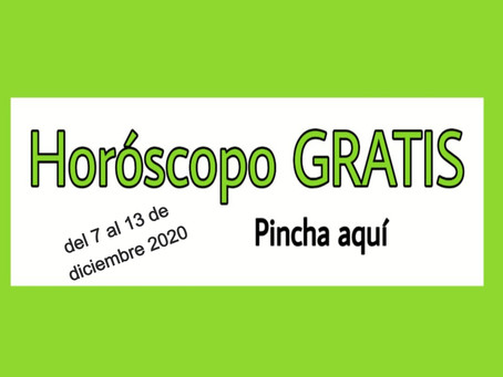 Horóscopo del 7 al 13 de diciembre 2020 Tararot y videncia semanal