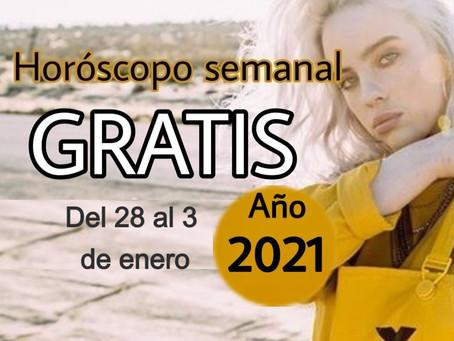 NÚMERO, FRASE de la semana y HORÓSCOPO del 28 al 3 de enero 2021