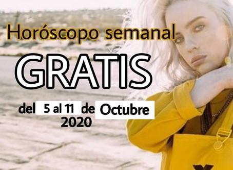 NUMERO, FRASE de la semana y HOROSCOPO del 5 al 11 de octubre 2020