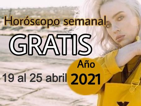 NÚMERO, FRASE de la semana y HORÓSCOPO del 19 al 25 de abril 2021
