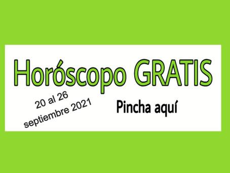 Horóscopo del 20 al 26 de septiembre 2021 Tarot y videncia semanal