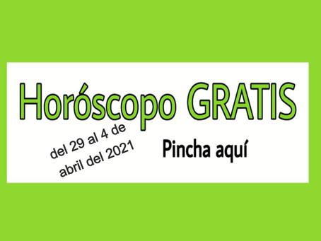 Horóscopo del 29 al 4 de abril 2021 Tarot y videncia semanal