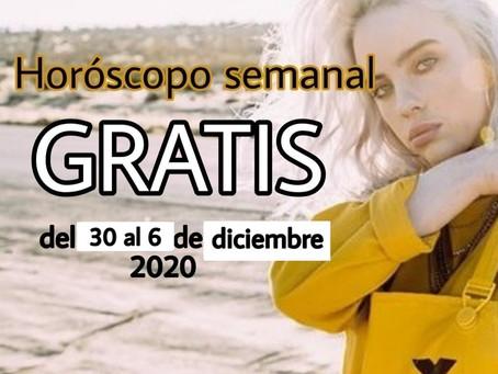 NUMERO, FRASE de la semana y HOROSCOPO del 30 al 6 de diciembre 2020