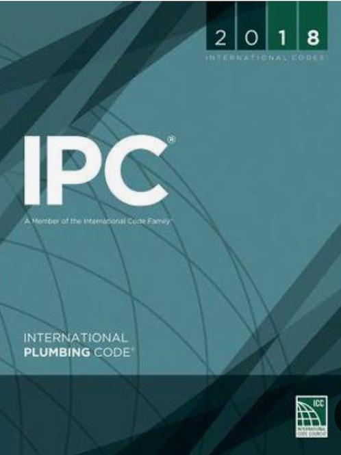 (IPC) 2018 International Plumbing Code®