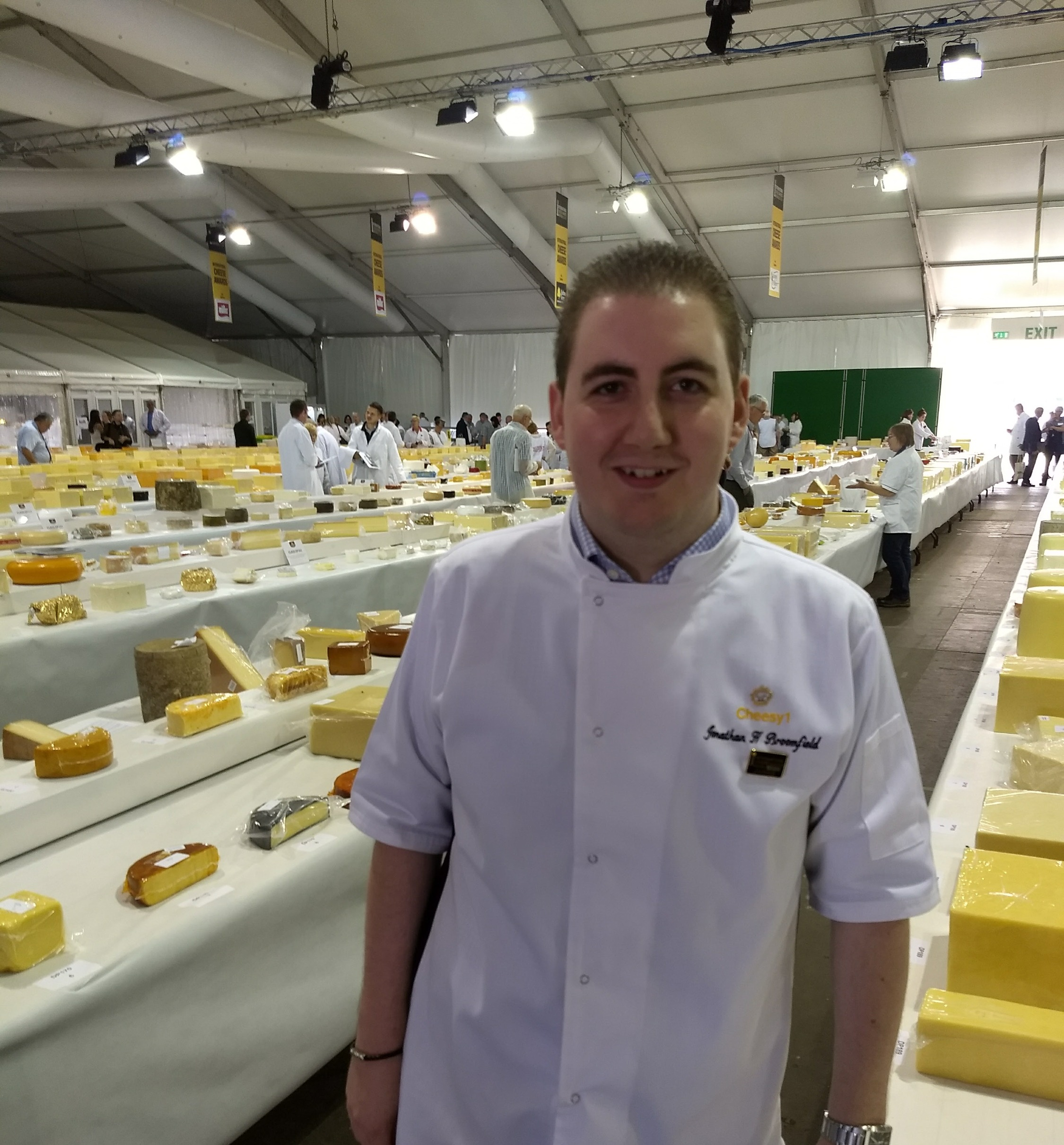 Jonathan Judging at the International Cheese Awards.