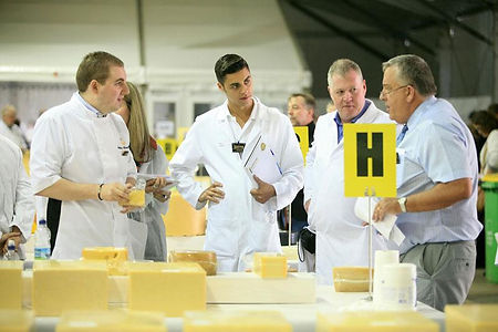 The Cheesy1 having a Judges discussion at the International Cheese Awards.
