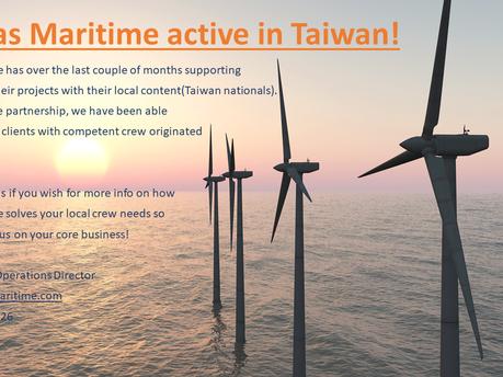 Boreas Maritime active in Taiwan