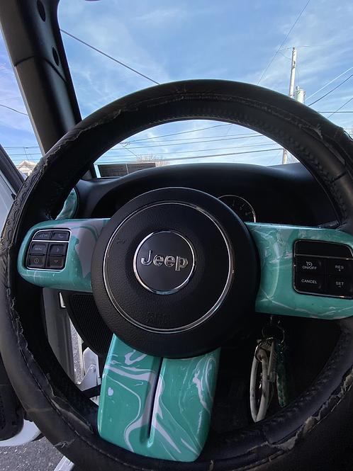 JK Watercolor Steering Wheel Kit