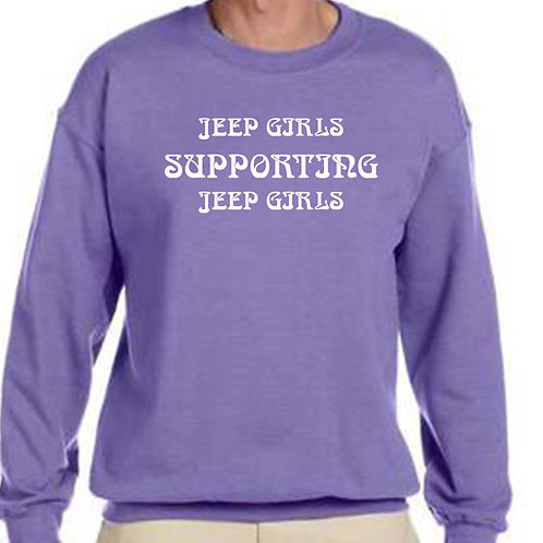 Jeep Girls Supporting Jeep Girls Crew Neck