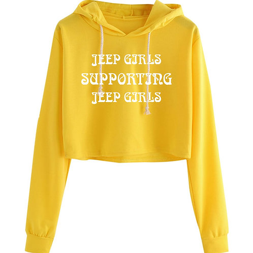 Jeep Girls Supporting Jeep Girls Cropped Hoodie