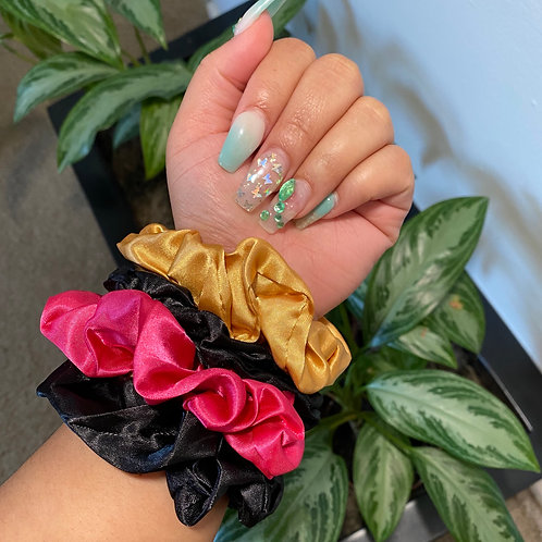 Satin Scrunchies (4 Pack)