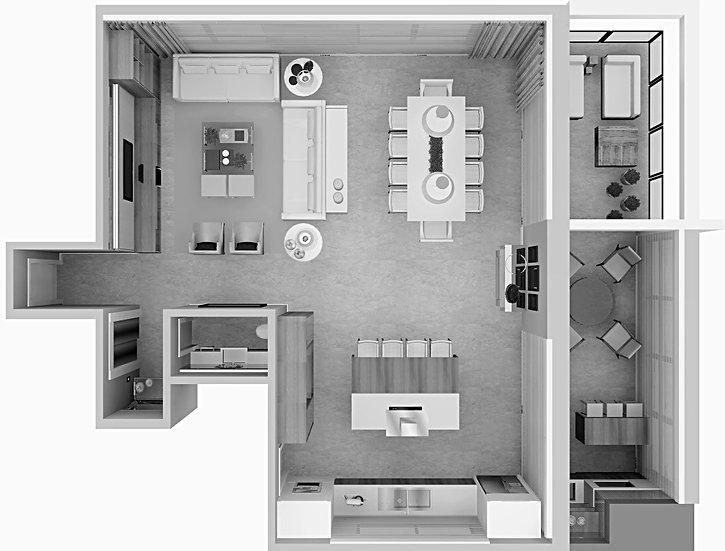 Interiores de Prédio Residencial - Parceria com Arquiteta Ana Flávia Ribas