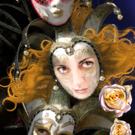Self Portrait With Masks and Roses