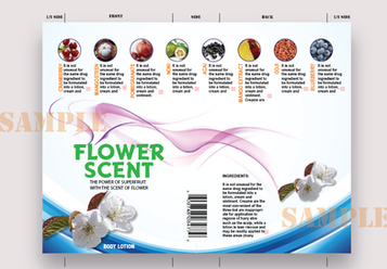 Flower Scent Label