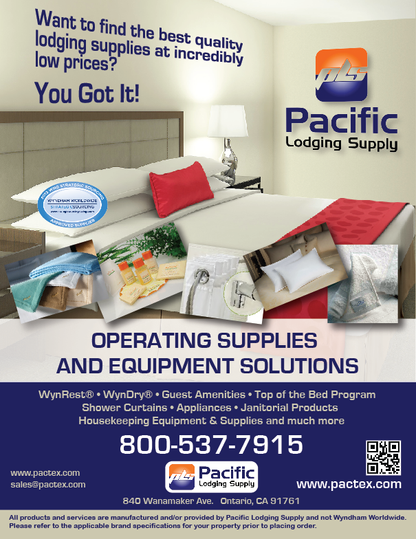 Pacific Lodging Supply Ad