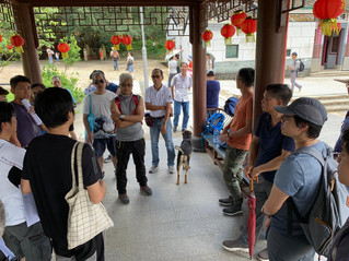 第二期復修村屋計劃承建商場地解說會 Pre-tender site meeting with contractors, stage 2 house restoration works