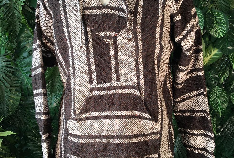 Black & white baja hoody (S)