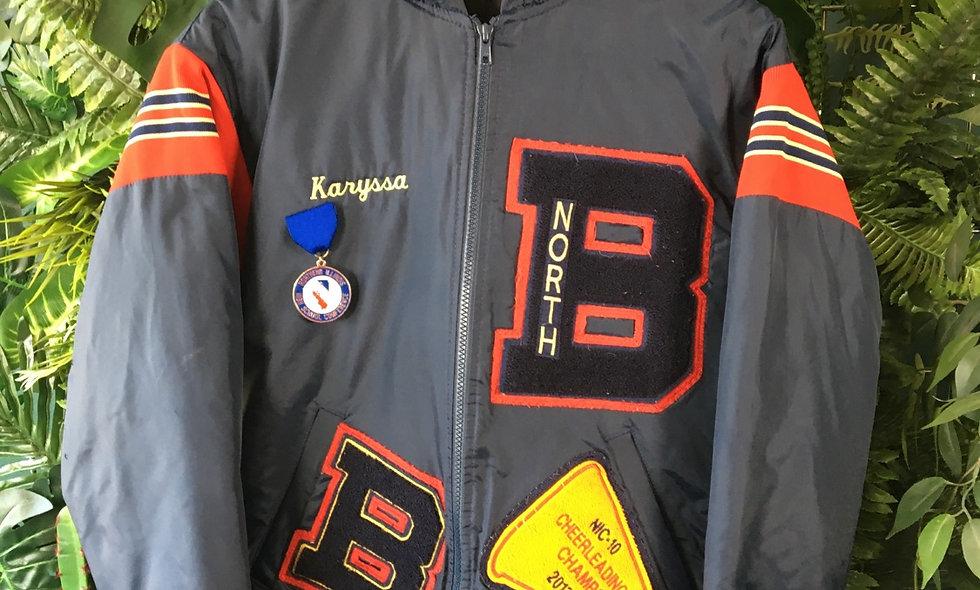 2013 cheerleading champs varsity jacket.