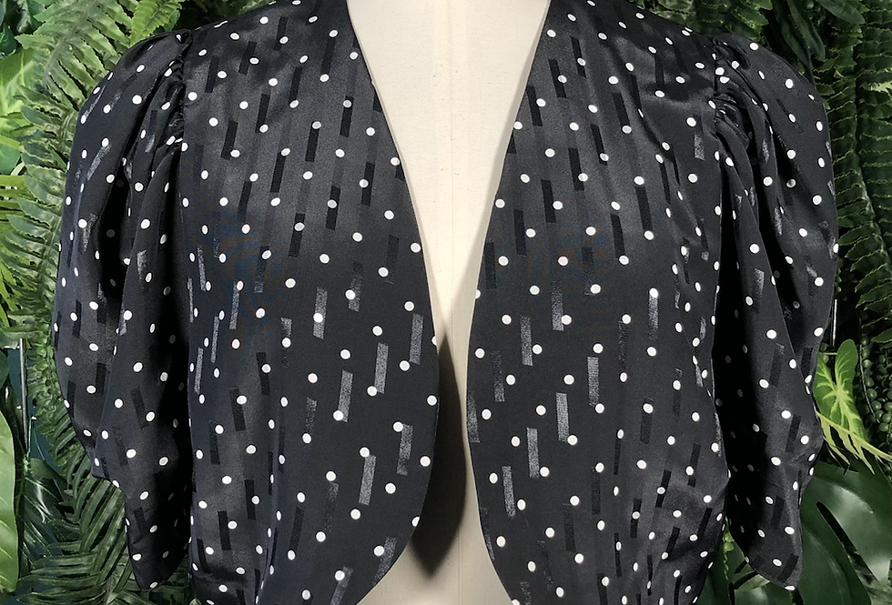 Polka dot blouse/ jacket