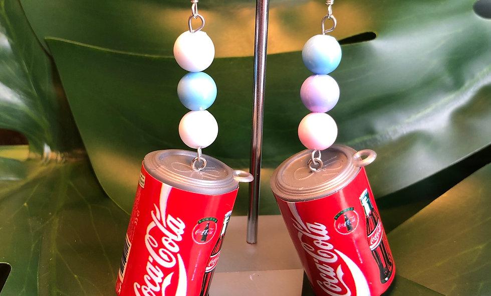 Can of coke earrings