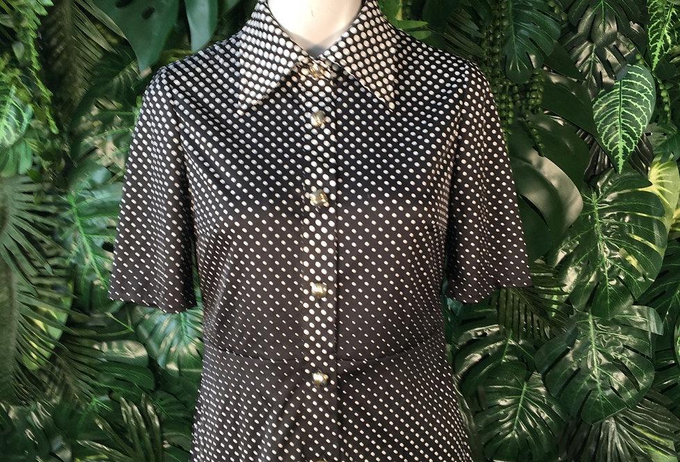 Polka dot blouse (size 10)