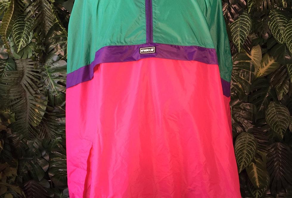 K Way colour block rain poncho (XL)