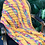 Thumbnail: 1980s custard yellow blanket with rainbow stripes