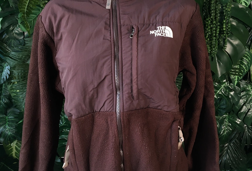 The North Face chocolate brown fleece