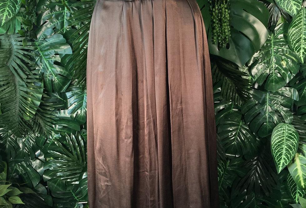 Metallic olive skirt (size 16)