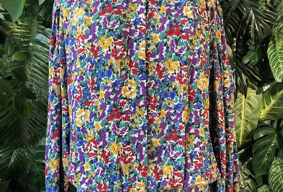 Floral 90s blouse