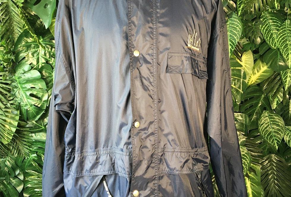 Jeantex rain coat with foldaway hood (L)