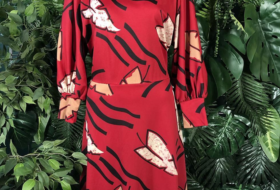 1980s palm leaf dress