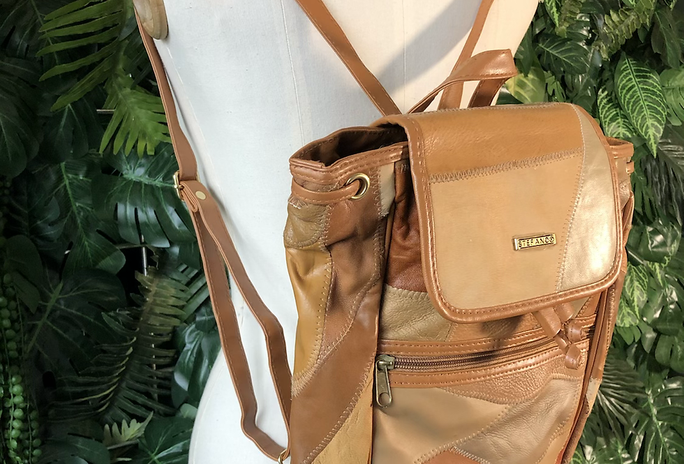 Stefano patchwork backpack