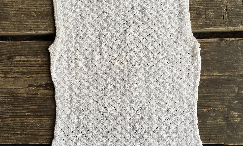 White bead embellished top (S/M)