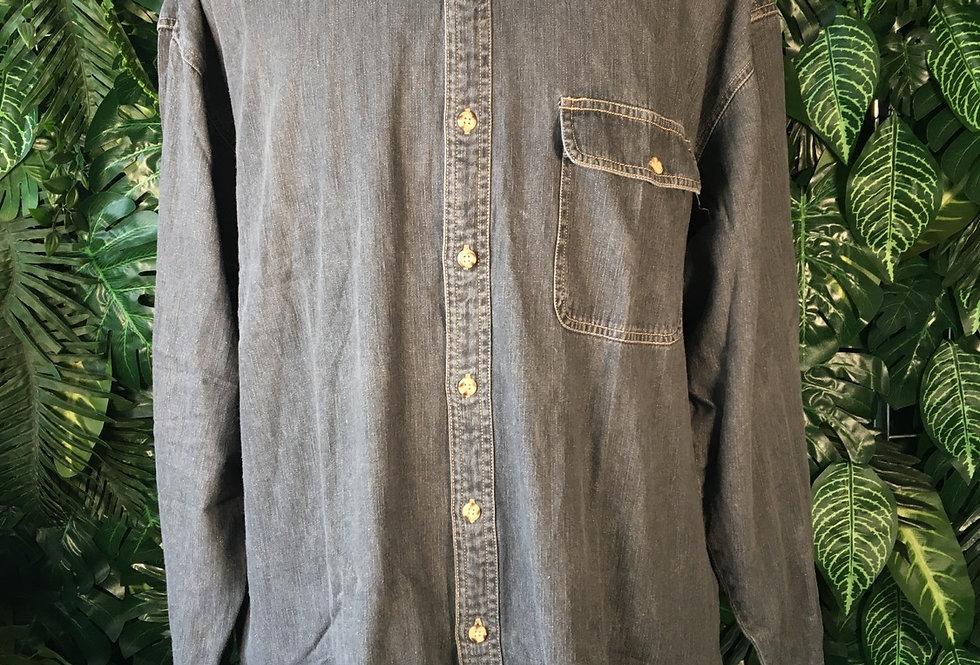 Camargue charcoal denim shirt (XL)