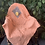 Thumbnail: Handmade peach blanket with yellow rose