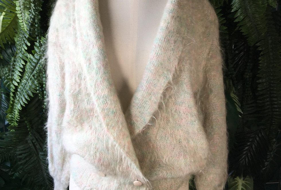 Red Leaf 80s Mohair Cardigan (M)