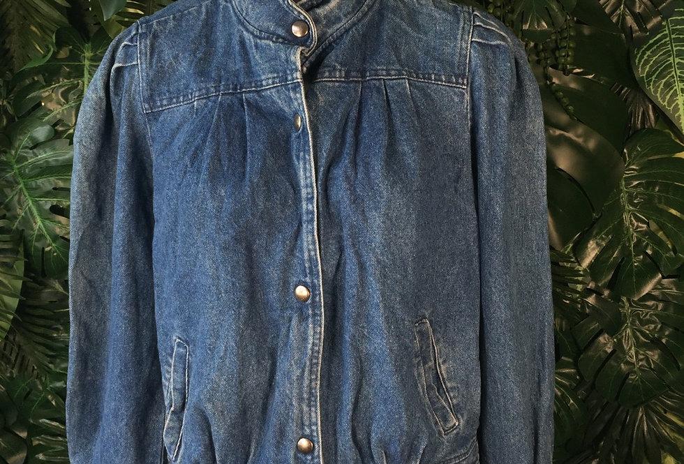 Rouched denim jacket (M)