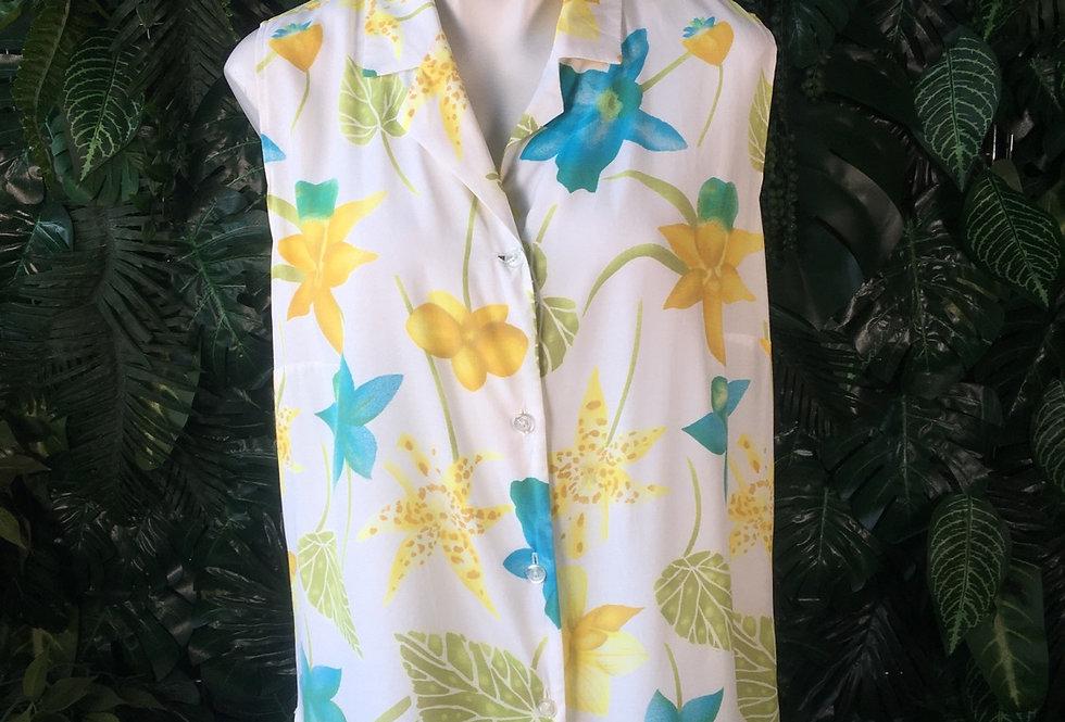 Spring flower sleeveless blouse (size 20)