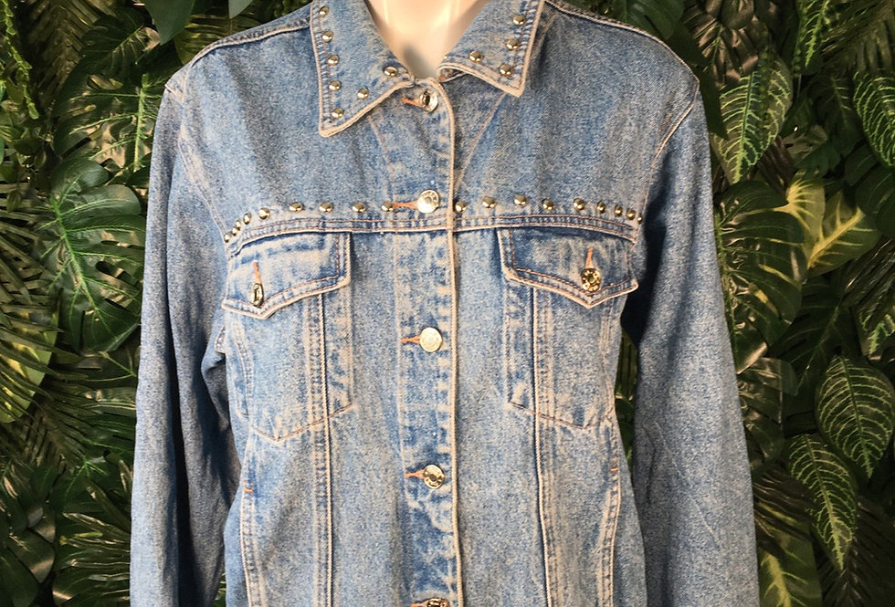 Studded denim jacket (size 16)