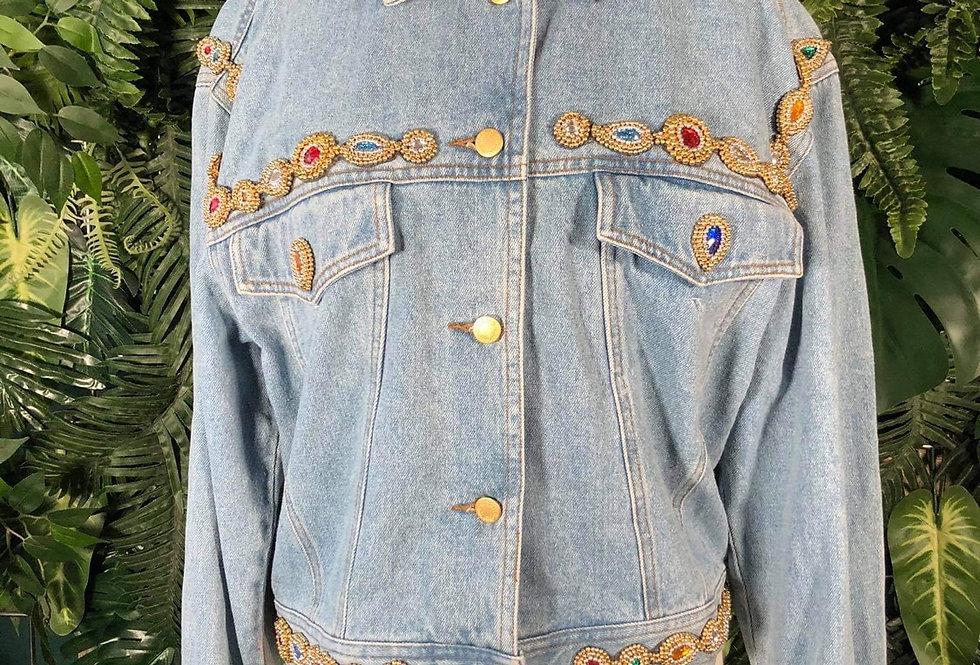 90s Beaded denim jacket