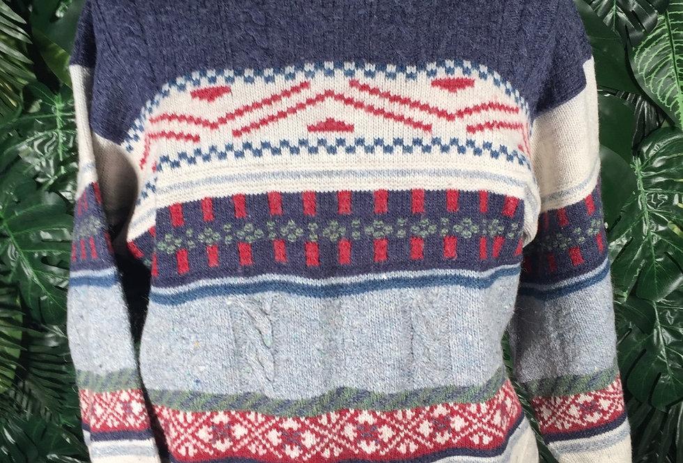 90s pattern knit (M)