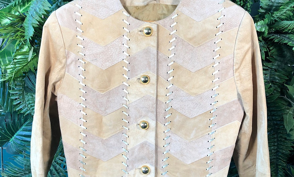 90s suede crop jacket