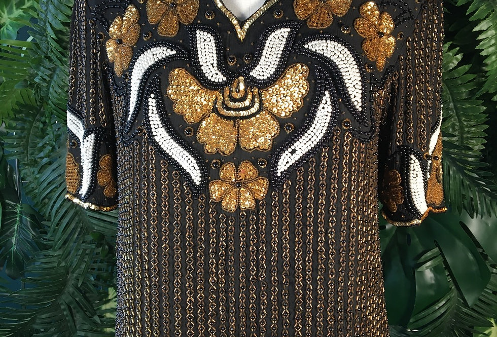 Niks Touch Beaded Blouse (S)
