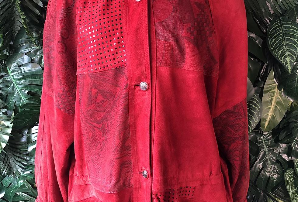 80s faux suede jacket