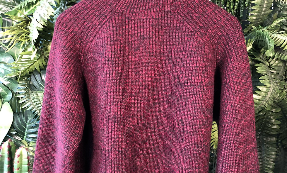Burgundy cable knit
